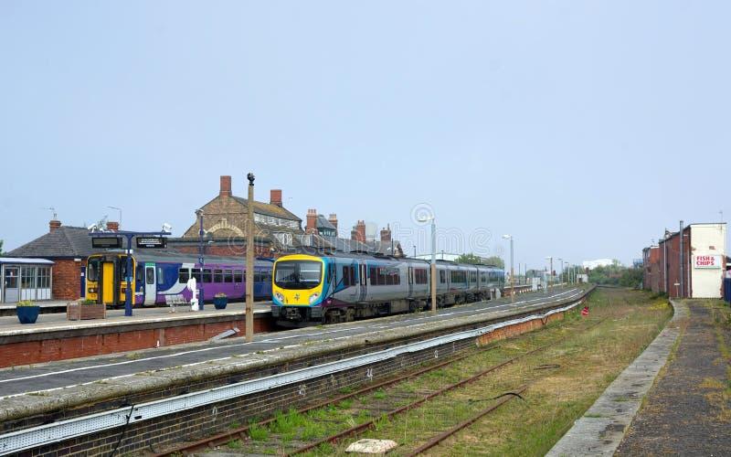 Σιδηροδρομικός σταθμός Cleethorpes Λινκολνσάιρ UK στοκ εικόνα