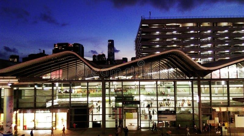 Σιδηροδρομικός σταθμός Hunghom, HK στοκ φωτογραφίες