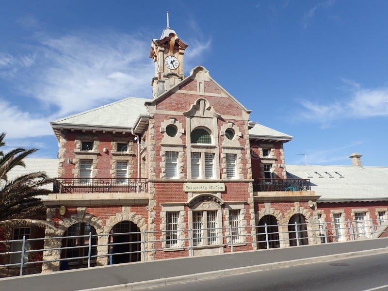 Σιδηροδρομικός σταθμός Muizenberg, Καίηπ Τάουν, Νότια Αφρική στοκ εικόνες με δικαίωμα ελεύθερης χρήσης