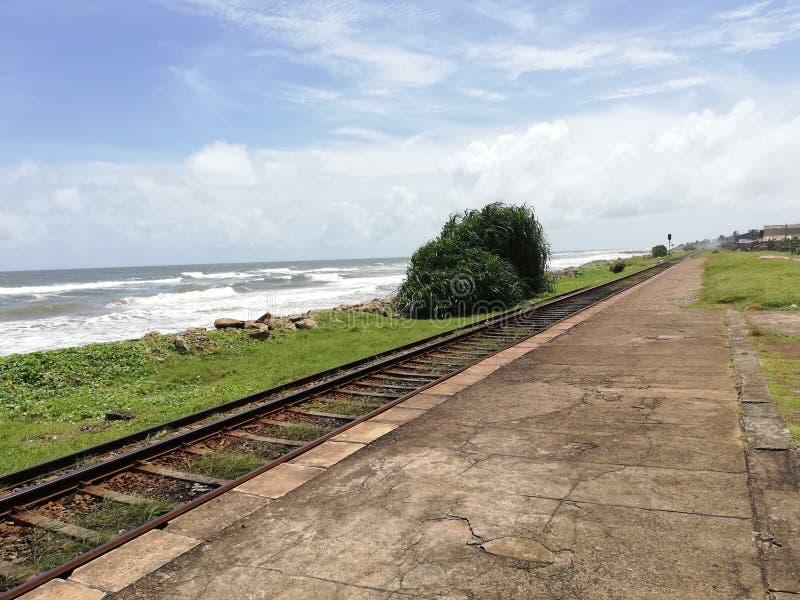 Σιδηροδρομικός σταθμός Uyana Egoda στοκ εικόνες