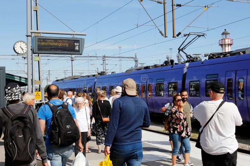 Σιδηροδρομικός σταθμός Ystad στοκ φωτογραφία