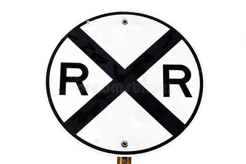 Σιδηρόδρομος που διασχίζει το σημάδι στοκ εικόνα με δικαίωμα ελεύθερης χρήσης