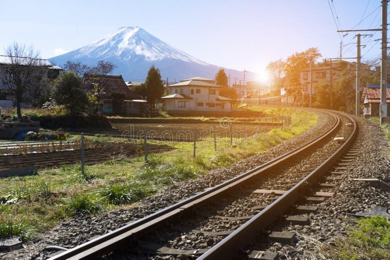 Σιδηρόδρομος στην ΑΜ Φούτζι στην Ιαπωνία στοκ εικόνες με δικαίωμα ελεύθερης χρήσης