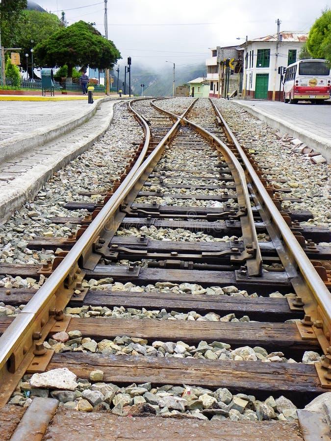 Σιδηρόδρομος τουριστών σε Alausi Nariz del Diablo, Ισημερινός στοκ εικόνα