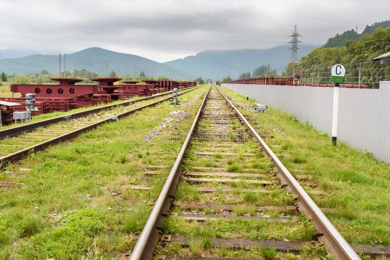 Σιδηρόδρομος circum-Baikal Μέρος μεταξύ Slyudyanka και Kultuk Ρωσία στοκ φωτογραφίες με δικαίωμα ελεύθερης χρήσης