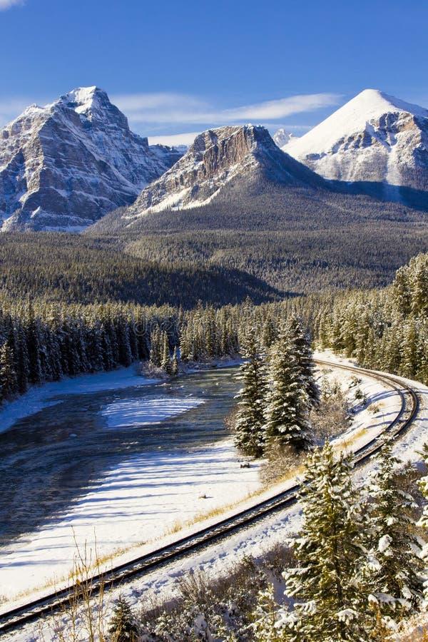 σιδηρόδρομος rockies στοκ φωτογραφία με δικαίωμα ελεύθερης χρήσης
