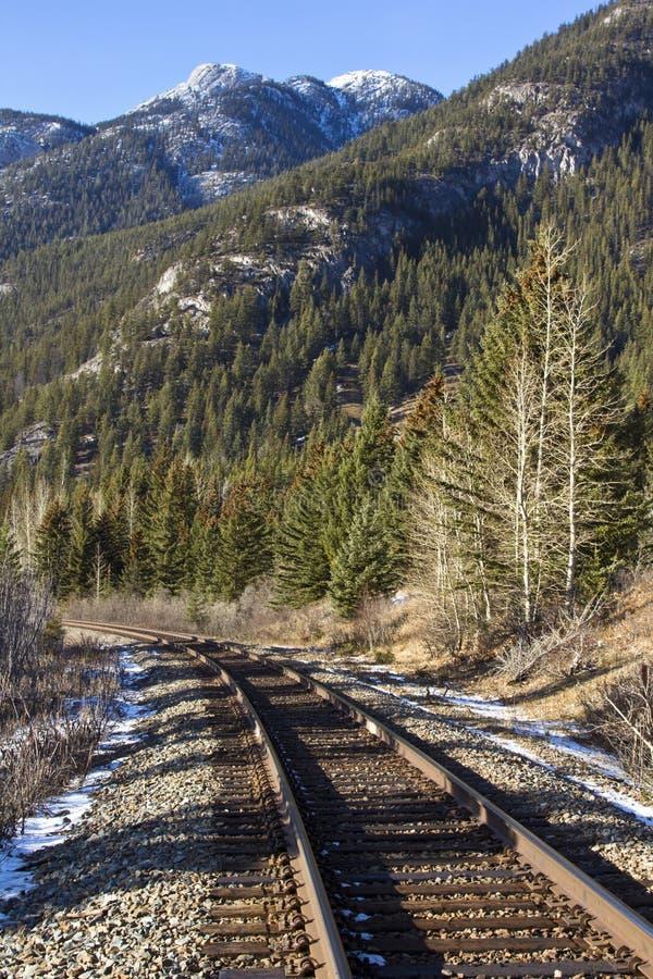 σιδηρόδρομος rockies στοκ εικόνες με δικαίωμα ελεύθερης χρήσης