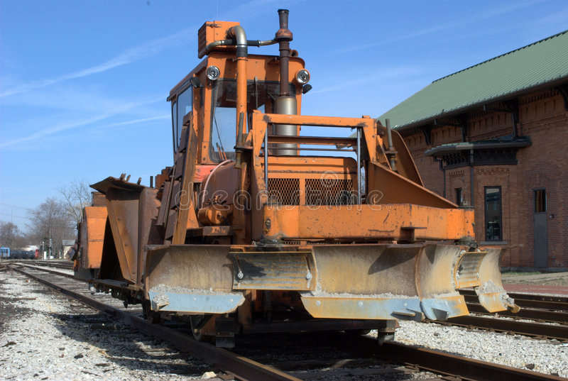 σιδηρόδρομος snowplow στοκ φωτογραφία