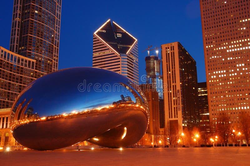 Σικάγο και το φασόλι στοκ φωτογραφίες με δικαίωμα ελεύθερης χρήσης