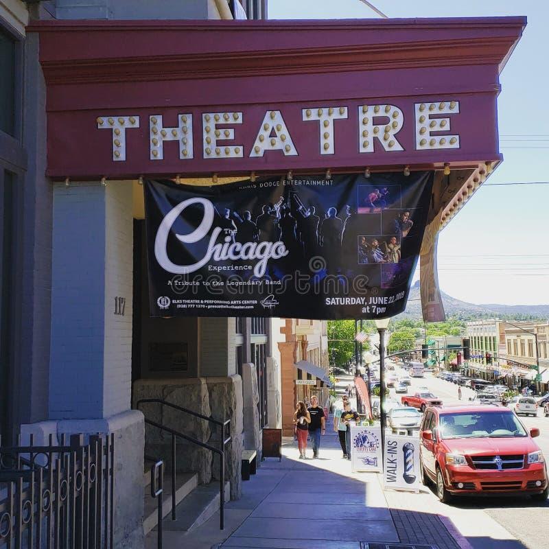 Σικάγο που συμβαίνει στο μικρό τοπικό θέατρο στοκ εικόνα με δικαίωμα ελεύθερης χρήσης