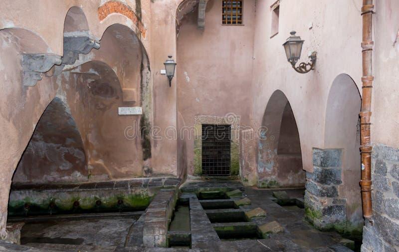 Σικελία, Cefalu, πλύσιμο στοκ φωτογραφία