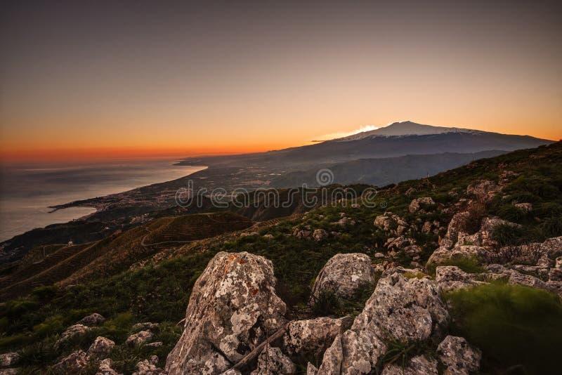 Σικελία, Etna στοκ εικόνα με δικαίωμα ελεύθερης χρήσης