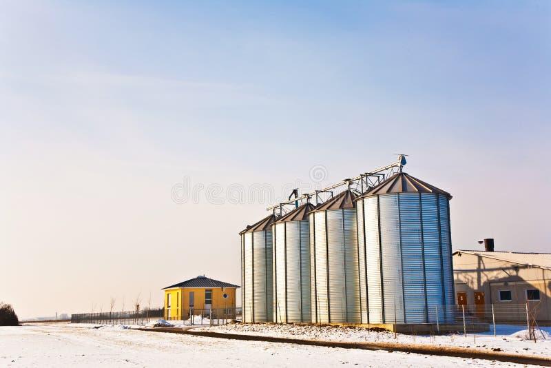 σιλό τοπίων λευκό σαν το χ&i στοκ φωτογραφίες με δικαίωμα ελεύθερης χρήσης