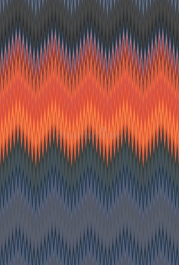 Σιριτιών τρεκλίσματος κυμάτων κόκκινο, πορτοκαλί φλογών πυρκαγιάς υπόβαθρο τέχνης σχεδίων αφηρημένο, καρότο, κοράλλι, ροδάκινο, σ διανυσματική απεικόνιση