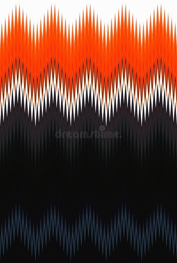 Σιριτιών τρεκλίσματος κυμάτων κόκκινο, πορτοκαλί φλογών πυρκαγιάς υπόβαθρο τέχνης σχεδίων αφηρημένο, καρότο, κοράλλι, ροδάκινο, σ ελεύθερη απεικόνιση δικαιώματος