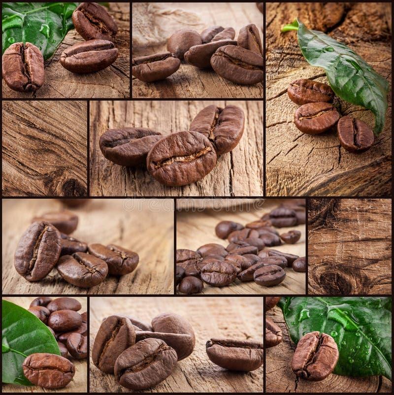 Σιτάρια καφέ στην ξύλινη ανασκόπηση στοκ εικόνες
