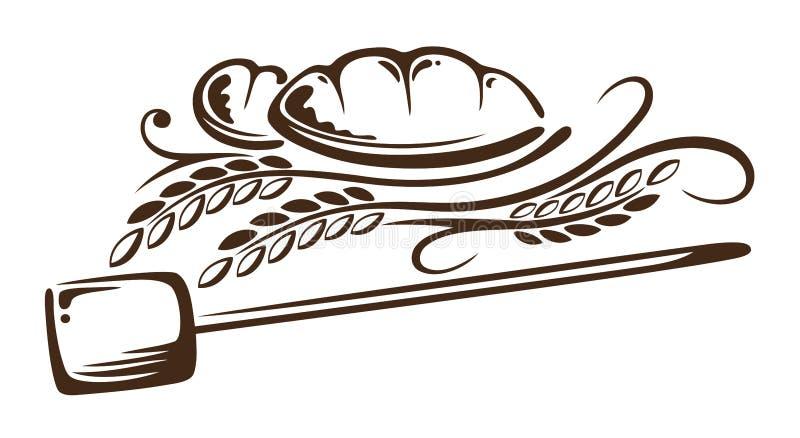 Σιτάρι, ψωμί, αρτοποιείο διανυσματική απεικόνιση