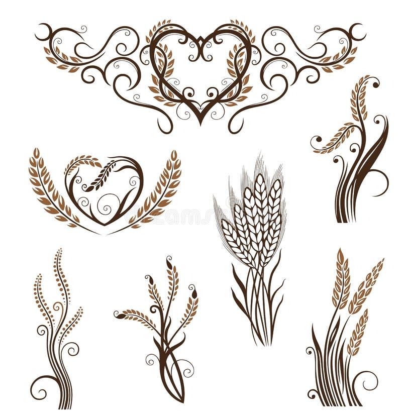 Σιτάρι, ψωμί, σίτος, αρτοποιείο διανυσματική απεικόνιση