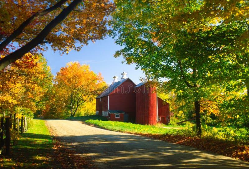 Σιταποθήκη χώρας σε ένα απόγευμα φθινοπώρου. στοκ εικόνα