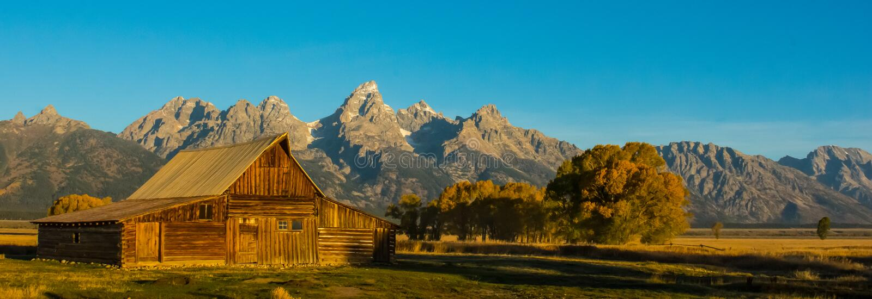 Σιταποθήκη Moulton στο μεγάλο εθνικό πάρκο Teton στοκ εικόνα με δικαίωμα ελεύθερης χρήσης