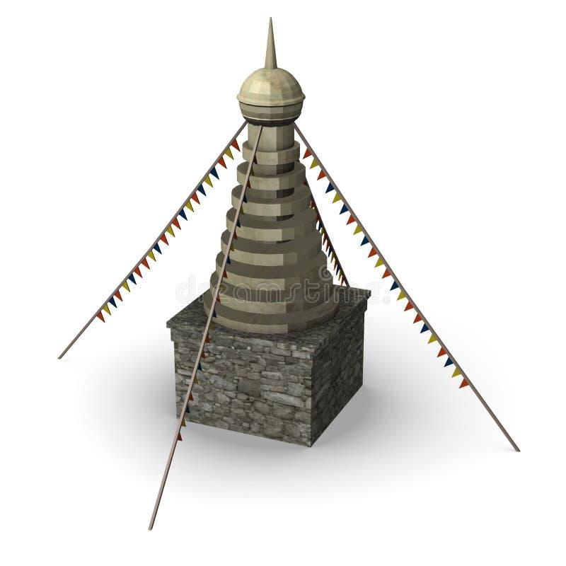 σιταποθήκη tibetian ελεύθερη απεικόνιση δικαιώματος