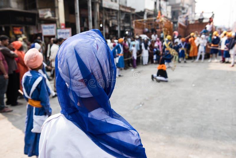 Σιχ τελετή στο Δελχί στοκ εικόνα με δικαίωμα ελεύθερης χρήσης