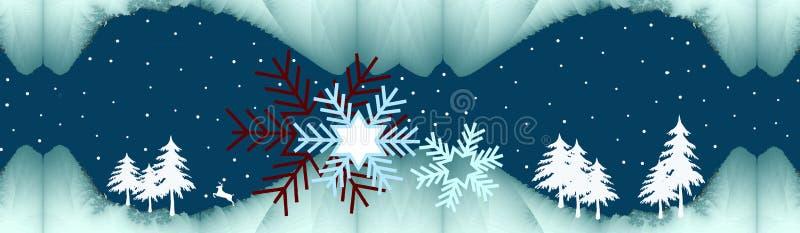 σιωπηλός χειμώνας νύχτας ελεύθερη απεικόνιση δικαιώματος