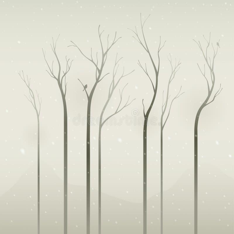 σιωπηλός χειμώνας διανυσματική απεικόνιση
