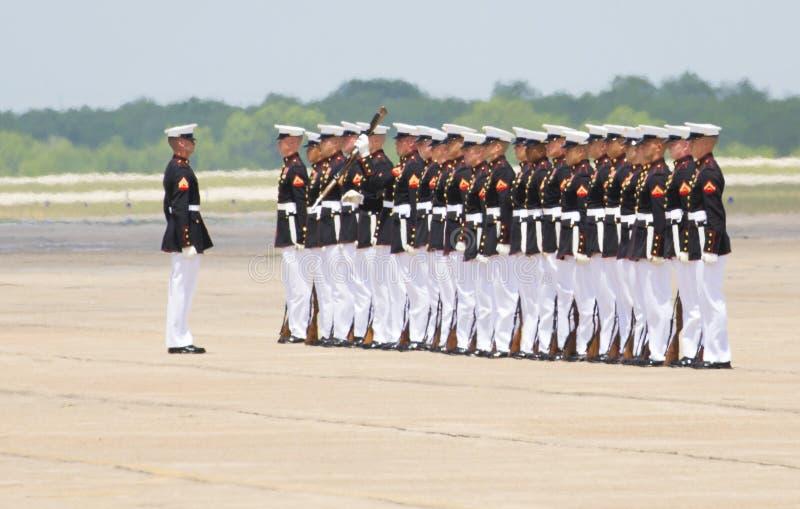 Σιωπηλή ομάδα τρυπανιών Ηνωμένου Στρατεύματος Πεζοναυτών στοκ φωτογραφία με δικαίωμα ελεύθερης χρήσης