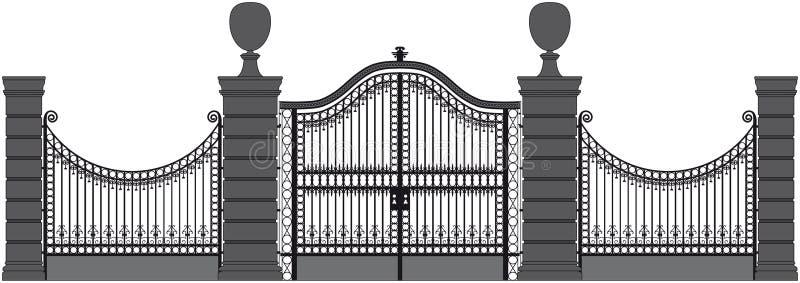 Σιδερώστε την πύλη απεικόνιση αποθεμάτων