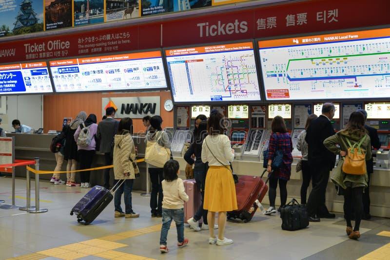 Σιδηροδρομικός σταθμός αερολιμένων Kansai, Οζάκα, Ιαπωνία στοκ εικόνες