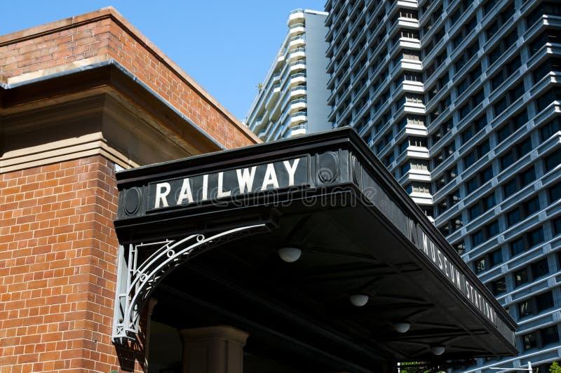 Σιδηροδρομικός σταθμός - Σίδνεϊ - Αυστραλία στοκ φωτογραφίες