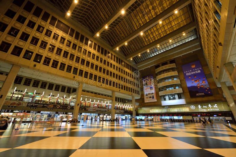 Σιδηροδρομικός σταθμός της Ταϊπέι στοκ φωτογραφία με δικαίωμα ελεύθερης χρήσης