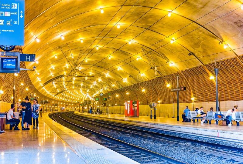 Σιδηροδρομικός σταθμός του Μονακό στοκ εικόνες με δικαίωμα ελεύθερης χρήσης