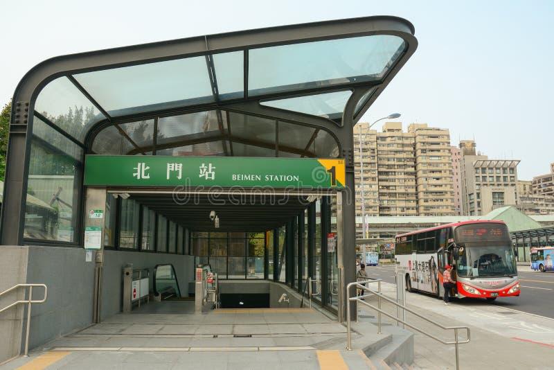 Σιδηροδρομικός σταθμός Beimen στη Ταϊπέι στοκ φωτογραφία με δικαίωμα ελεύθερης χρήσης