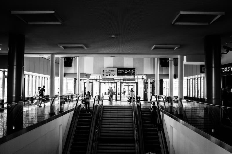 Σιδηροδρομικός σταθμός Szczecin στοκ εικόνες