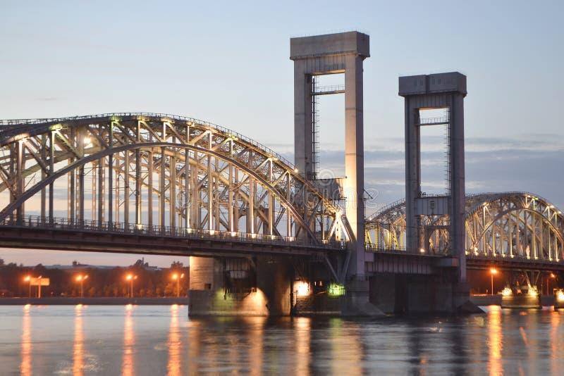 σιδηρόδρομος νύχτας της Φ& στοκ φωτογραφίες