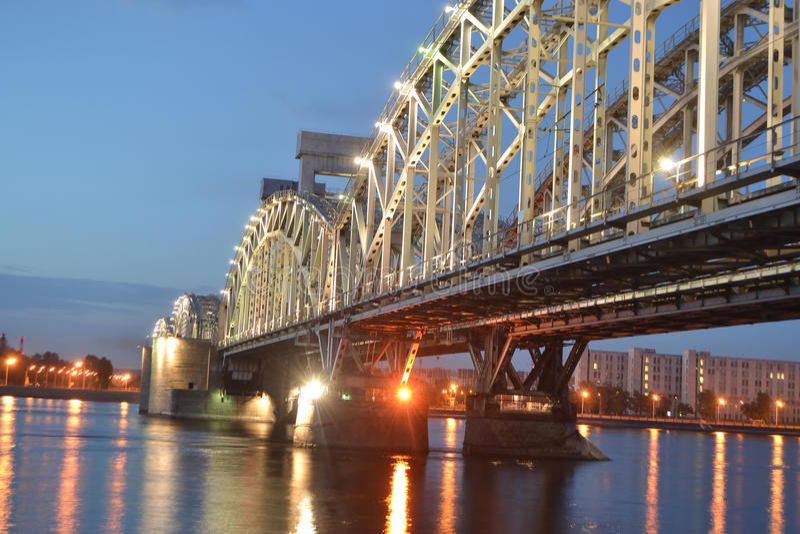 σιδηρόδρομος νύχτας της Φ& στοκ φωτογραφίες με δικαίωμα ελεύθερης χρήσης