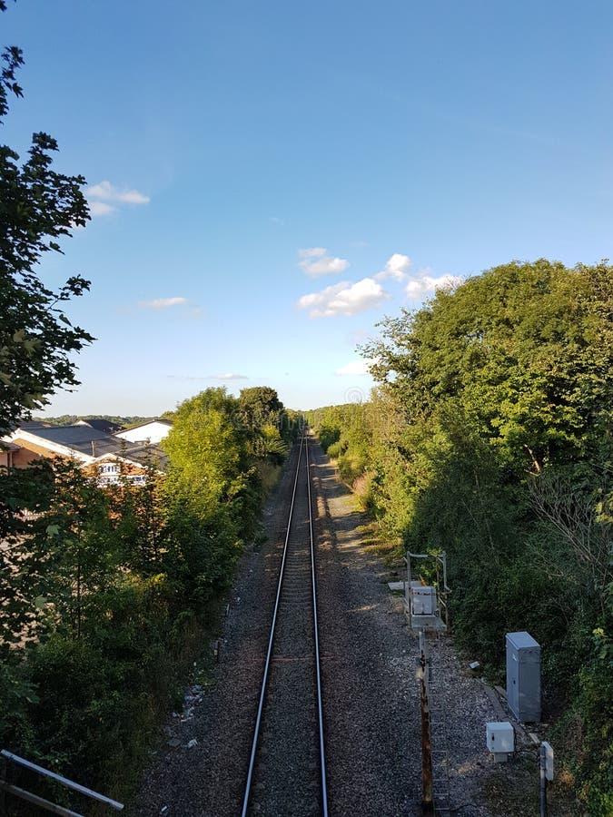 Σιδηρόδρομος strsight επάνω στοκ εικόνες