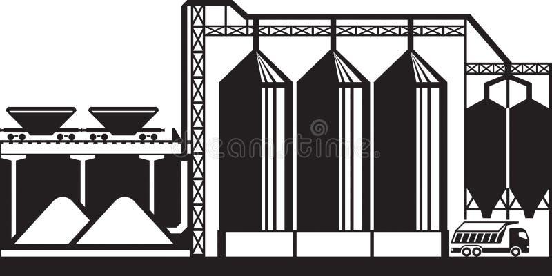 Σιλό για τα δημητριακά σιταριού ελεύθερη απεικόνιση δικαιώματος