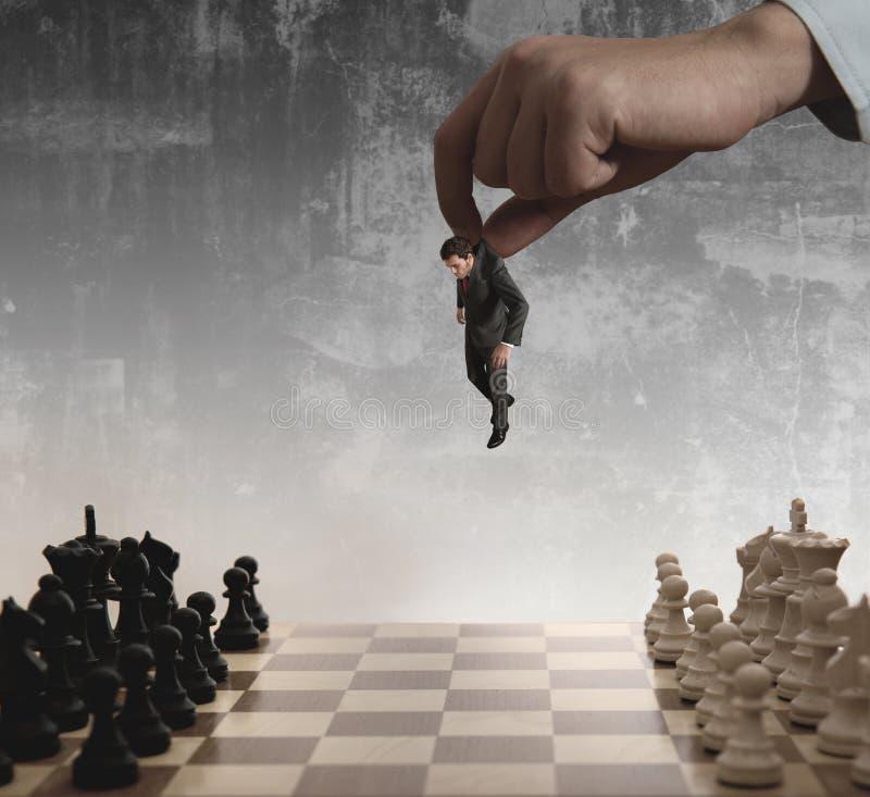 σκάκι επιχειρηματιών στοκ εικόνα με δικαίωμα ελεύθερης χρήσης