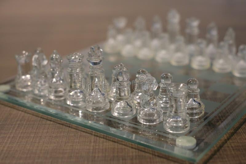 Σκάκι κρυστάλλου στοκ φωτογραφία με δικαίωμα ελεύθερης χρήσης