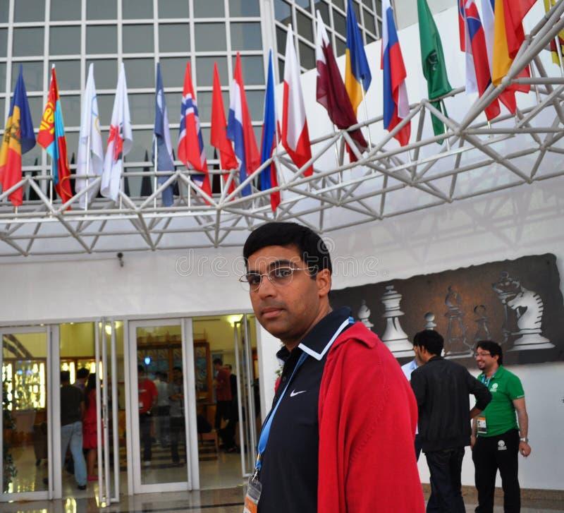 Σκάκι μεγάλο κύριο Anand Viswanathan στοκ εικόνες