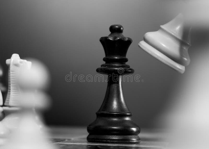 Σκάκι που φωτογραφίζεται σε μια σκακιέρα στοκ φωτογραφία με δικαίωμα ελεύθερης χρήσης