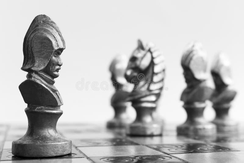 Σκάκι που φωτογραφίζεται σε μια σκακιέρα στοκ εικόνα με δικαίωμα ελεύθερης χρήσης