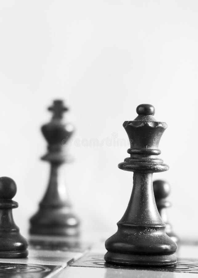 Σκάκι που φωτογραφίζεται σε μια σκακιέρα στοκ εικόνες
