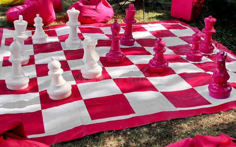 Σκάκι σε εξωτερικό χώρο στοκ εικόνα με δικαίωμα ελεύθερης χρήσης