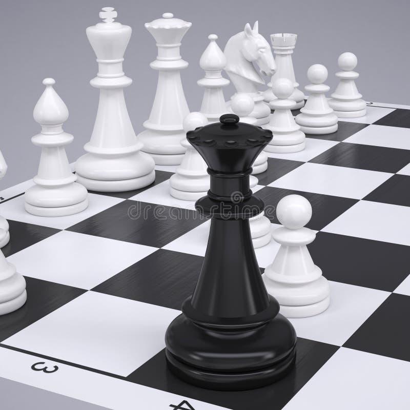 Σκάκι στη σκακιέρα διανυσματική απεικόνιση