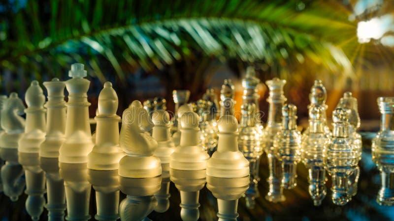 Σκάκι στο ηλιοβασίλεμα στοκ φωτογραφία με δικαίωμα ελεύθερης χρήσης