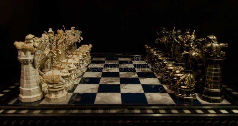 Σκάκι του Harry Potter στοκ φωτογραφίες